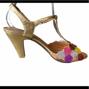 Chie Mihara Multicolor T-strap Sandals